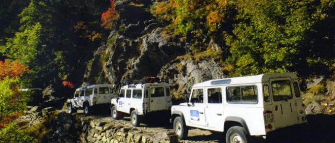 3 Landrovers